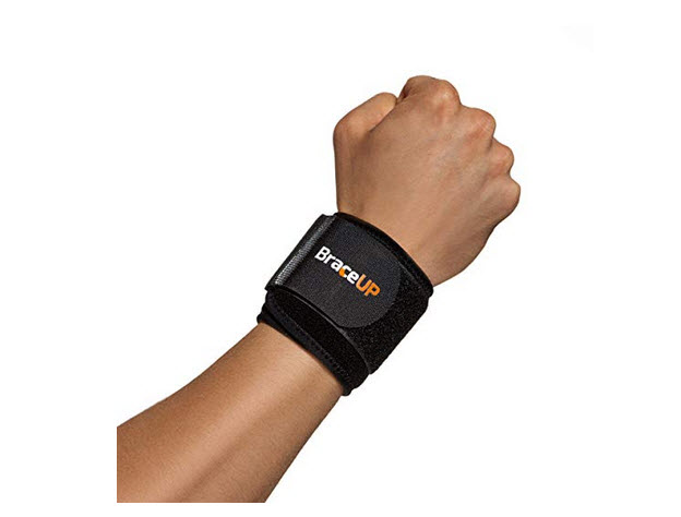BraceUP® Wrist Compression Strap and Support, One Size Adjustable
