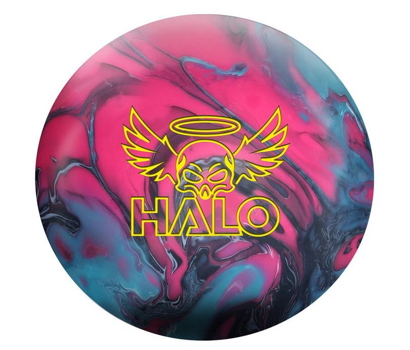 Roto Grip Halo Bowling Ball- Coal/Fuschia/Sky Blue