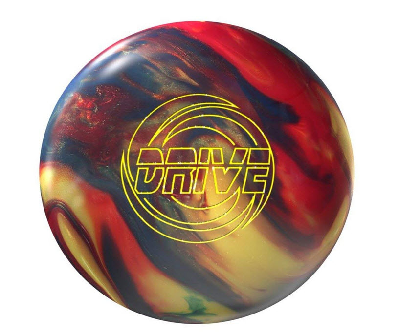 Storm Drive Bowling Ball- Gold/Navy/Red Hybrid