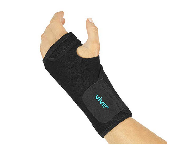 Vive Wrist Brace Carpal Tunnel Hand Compression Support Wrap for Mena in Women